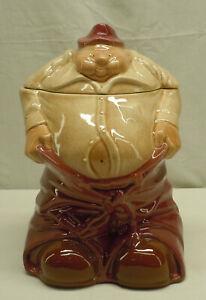 """Vintage Original Maroon Pants McCoy Chairman Of The Board Cookie Jar 10 5/8"""""""