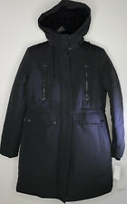 Lucky Brand Missy Black Faux Fur Hooded Parka Jacket Women's Sz Medium NEW