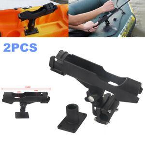 2pc Boat Yacht Kayak Canoe Fishing Rod Pole Holder Bracket Tackle Kit Adjustable