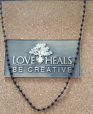 "Love Heals 24"" Spinel Braided  Strand Necklace NEW retails $109"