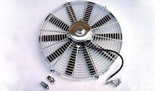 "16"" Chrome Heavy Duty 2700 CFM Radiator Straight Blade Electric Fan street rod"