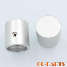 1*Silver Machined Solid Aluminum Volume Set Pointer Knob Sound HIFI DIY 20*22mm