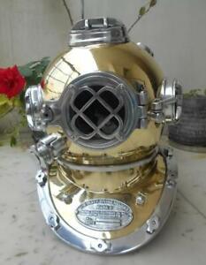 """Heavy Model Diving Helmet Replica Mark V Deep Sea Divers Helmet 18"""" Exp Shipping"""