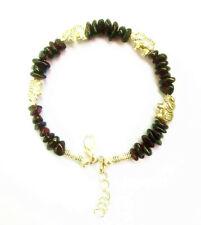 Ladies Bangle Tibetan Silver Elephant Chip Garnet Bead Bracelet Jewelry