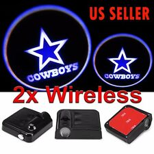 2X Wireless LED Car Door Laser Welcome Courtesy Ghost Lights for DALLAS COWBOYS