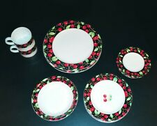 Darling Mary Engelbreit cherries plate cup Bowl Sakura 1994 Rare Vintage Kitchen