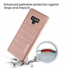 For Samsung Galaxy Note 9 Rose Gold Dots Textured Fusion Protector Cover Case