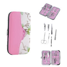 Stainless Steel Manicure Set Pedicure Kits Travel Nail Art Clipper File 7pcs