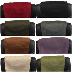 "FURNITURE RECLINER HEADREST COUCH SUEDE LEATHER SOFA PROTECTOR 14 "" x 30 """