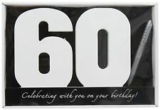 Wooden Birthday Signature Plaque ~ Happy 60Th Birthday Gift