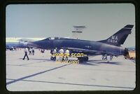 USAF North American F-100 Super Sabre Aircraft in 1977, Original Slide d22b