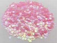 Clear Shiny Iridescent Heart Table Scatter Confetti Wedding Party Craft Gift (O)