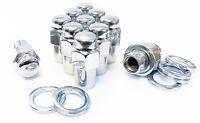 """(24) Lug Nuts 12x1.25 Chrome Mag Wheel Nuts .75"""" Shank Cragar SST Offset Washers"""