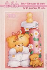 Le Suh Baby Mini Book 3D Decoupage Card Making Craft *CUTTING REQUIRED*