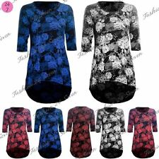 Viscose Short Sleeve Tunic Floral Dresses for Women