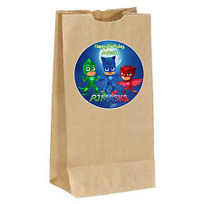 PJ Masks birthday Sticker Labels - goody bag, loot, party, treat 3.5inches Gekko