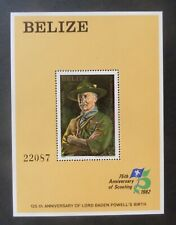 Belize 1982 125th Bird Lord Baden-Powell Scouts MS693b MNH UM unmounted mint