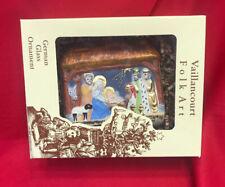 Vaillincourt Folk Art Ornament - NATIVITY SCENE - NIB Artist Proof + Signed