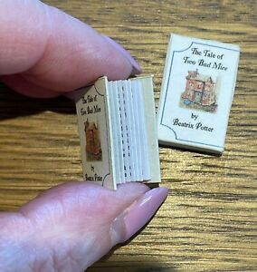 1:12 Scale Dolls House Miniature Beatrix Potter Book in Slip Cover by Box Clever