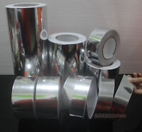 Multi-function Adhesive Glossy Silver Mirror Chrome Vinyl Tape Wrap Sticker - CF