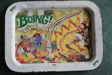BOING VINTAGE ANTIQUE OLD TIN METAL Soda authentic Serving Tray charola mexico