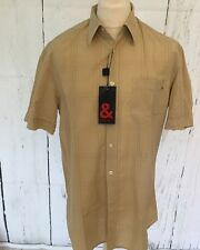 Dolce & Gabbana Mens Classic Shorts Sleeve Shirt Gb42 Authentic NWTS