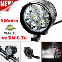 T6 Bike Bicycle Headlight 3x CREE LED Head Light Lamp Torch Flashlight USB Port