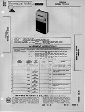 1960 TOSHIBA 7TP-352S SW BC RADIO SERVICE MANUAL PHOTOFACT SCHEMATIC TRANSISTOR