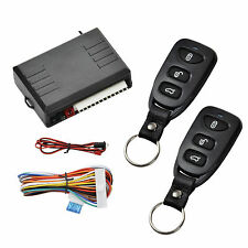 Universal Car Remote Control Fobs Kit Door Lock Vehicle Keyless Entry System New