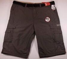 NWT Men's Unionbay Cargo Shorts ~ Cordova Messenger Belted Cargo ~ Flint ~ 40