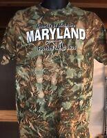 Gildan Maryland Camo Men's T-Shirt NEW