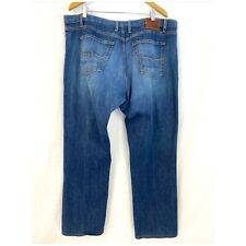Agave Waterman Jeans 42x32 Relaxed Straight Distressed Blue Mens 42 32