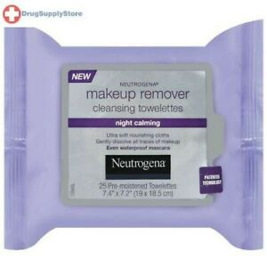 Neutrogena Makeup Remover Cleansing Wipes Night Calming 25ct
