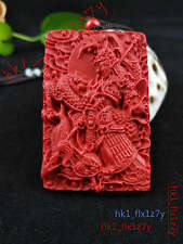 Chinese Fashion Cinnabar Dragon ZhaoYun Necklace Pendant Lucky Amulet Hot