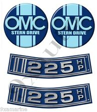 OMC Stringer Stern Drive Two Curved Decal Set
