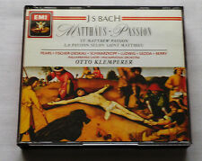 KLEMPERER / BACH Matthaus Passion SWITZERLAND 3xCD Box EMI CMS 7 63058 2 (1989)
