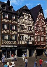 Postkarte Trier Fotokunst Schwalbe: 2/12 Alte Fachwerkhäuser am Hauptmarkt