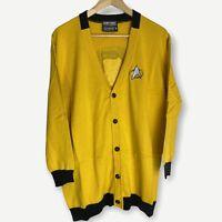 Star Trek - Yellow Mustard Top Novelty Cardigan - Size XL - BNWOT