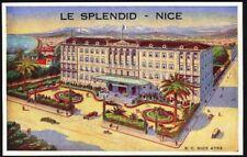 Le Splendid Hotel, Nice. Vintage Advertising Postcard. Free UK Postage