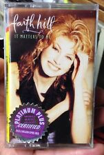 It Matters to Me by Faith Hill (Cassette, Aug-1995, Warner Bros.) NEW!