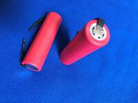2 of Li-ion 18650 Japan Panasonic Cylind.3.7V2.6Ah Rechargeable Cell w/Tabs+Tube