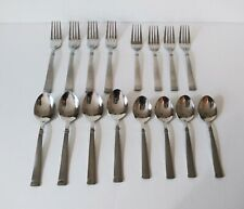 Wallace 18/10 Flatware Napoli Frost 16 Pieces Stainless Spoons Forks