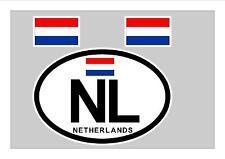 NETHERLANDS HOLLAND DUTCH FLAG WINDOW / BUMPER STICKER FOR CAR BIKE CARAVAN