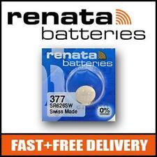 2 x Renata 377 1.55v SR626SW Watch Cell Batteries Mercury Free !!!!!