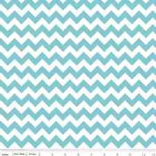 Laminate Chevron Aqua Small Chevron for Riley Blake, 1/2 yard cotton fabric