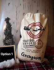 Personalised Custom Monogram Large Christmas Gift Presents Bag Xmas Santa Sack