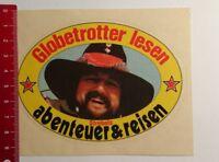 Aufkleber/Sticker: Globetrotter lesen Strebels Abenteuer & Reisen (090317188)