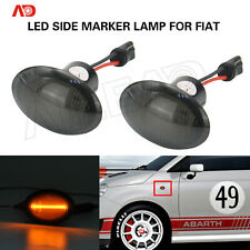 Smoked Abmer LED Side Marker Light Lamp For FIAT 4S 500 MCA MY201 3P NUOVA 500