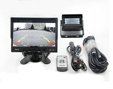 """Tractor Truck Car Reverse Backup Camera &7"""" TFT LCD Rear View Monitor &10M Cable"""