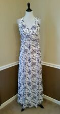 $148 Modcloth Ivory & Gray Floral Maxi Dress 2 Jessica Simpson Flutter the Odds